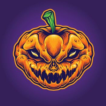 Halloween Skull Monster Mascot for party merchandise and clothing line