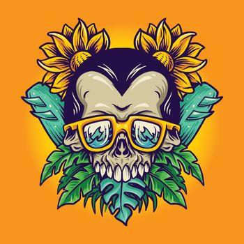 Dia de Muerto summer skull