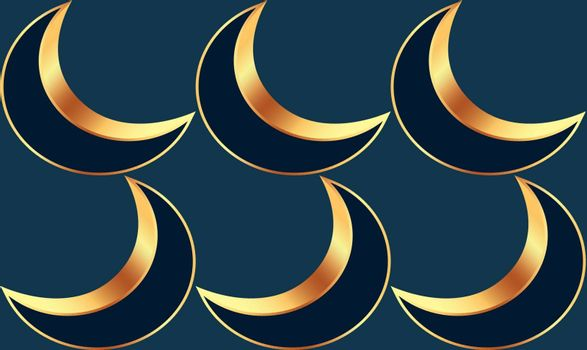 abstract style of moon on dark background