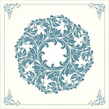 Vintage Mandala with floral ornament vector illustrations Elegant