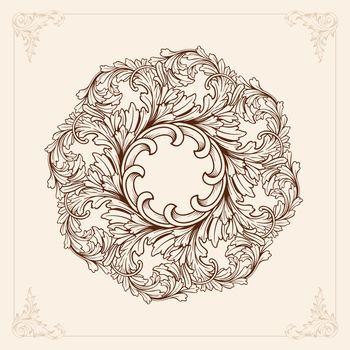 Vintage Mandala with floral element ornament vector illustrations