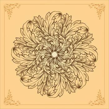 Logo icon ornamental mandala design. floral vector illustrations for your design element