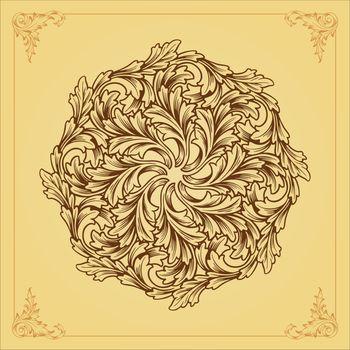 Beatiful Mandala ornaments design flourish vector vintage your element set