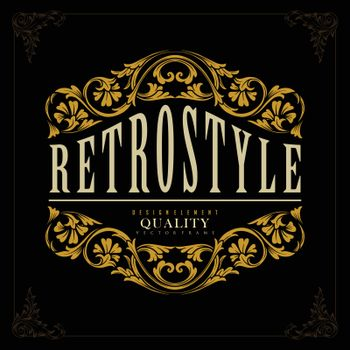 Retro Luxury perfect Badge for identity Gold Vector For Your Business and Merchandise