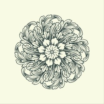 Beatiful Mandala ornaments design floral vector green for eleent your layout