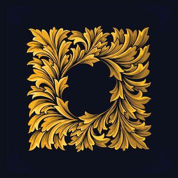 Frame Luxury Vintage Swirl Flourish