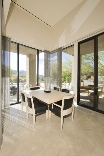Dining table by window