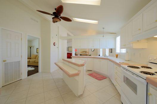 Wide view of vintage kitchen