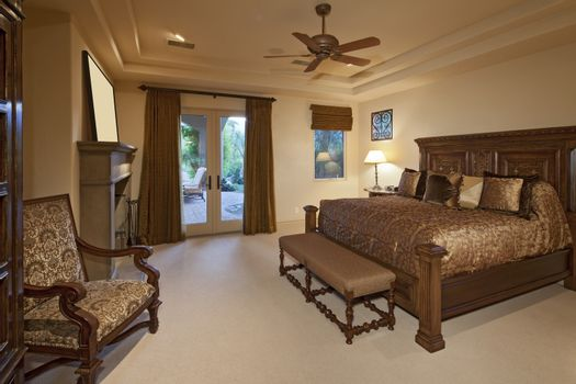 Bedroom in a luxury home