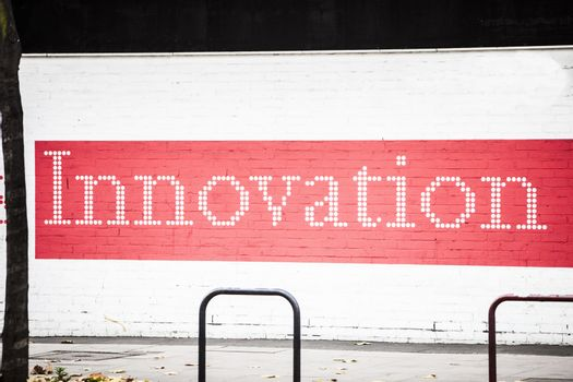 Innovation' written on wall