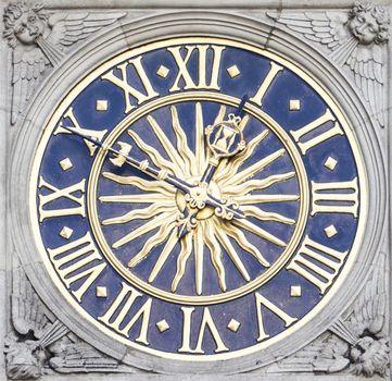 Detail shot of clock face