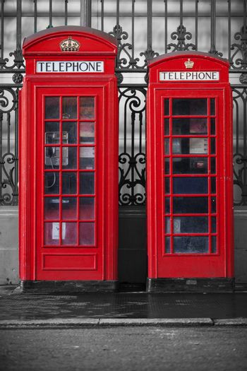 Red telephone booths