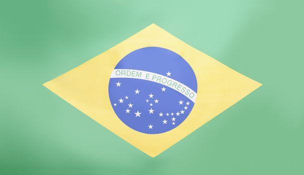 Full-frame shot of Brazilian flag