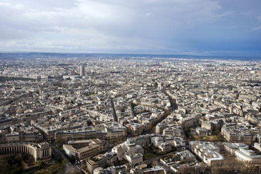 Aerial View of Paris, France