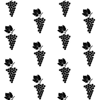 Seamless background of stylized grape bunches