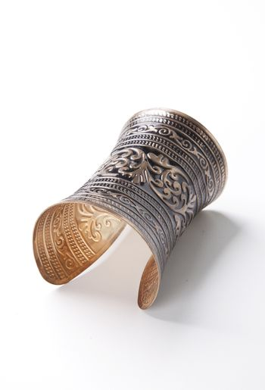 Beautiful design on bracelet over white background