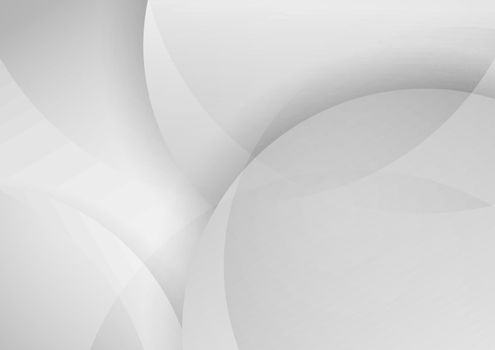 Abstract white and gray circles layer overlapping background. Vector illustration
