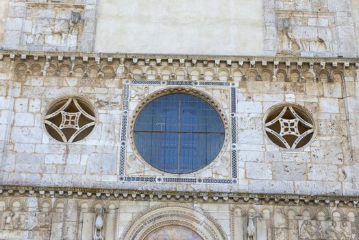 rose window of a medieval church