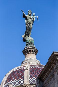 Detail of the church Merce in Barcelona of Spain