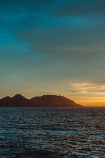 Islands of Spain during the sunset