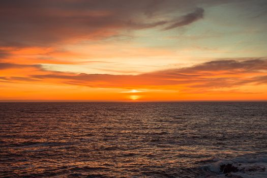 The spanish horizon during a colorful sunset