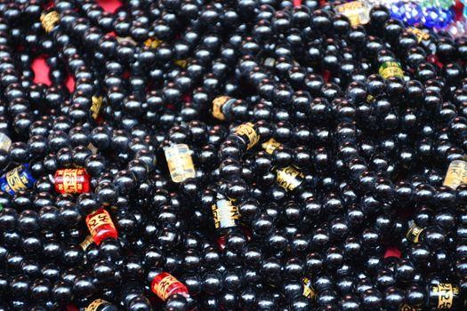 Black beads bracelet lucky charm