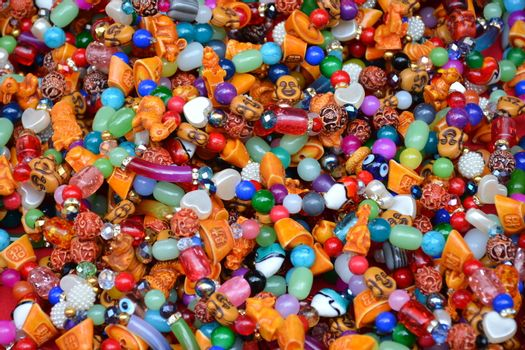 Gem beads bracelet lucky charm