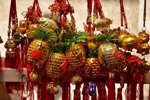 Golden pineapple lucky charm