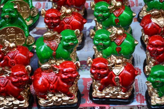 Pig statues lucky charm display figurines