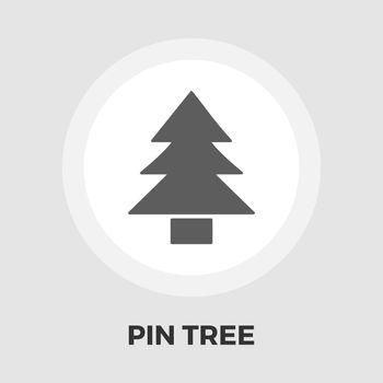 Conifer icon flat