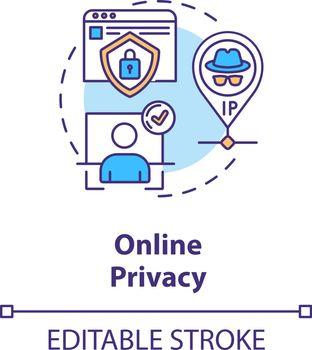 Online privacy concept icon