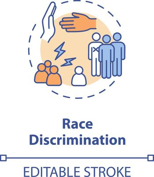 Race discrimination concept icon
