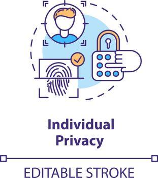 Individual privacy concept icon