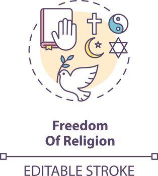 Freedom of religion concept icon
