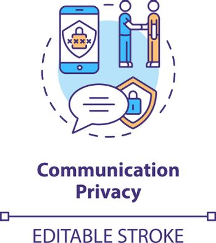 Communication privacy concept icon
