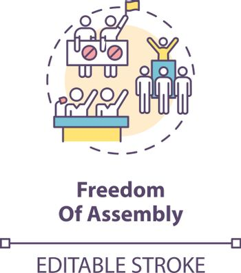 Freedom of assembly concept icon