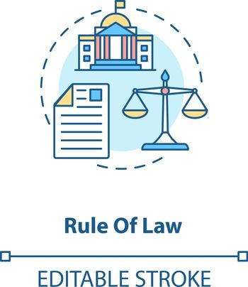 Rule of law concept icon