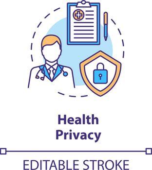 Health privacy concept icon