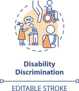 Disability discrimination concept icon