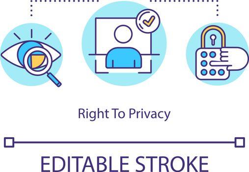 Right to privacy concept icon