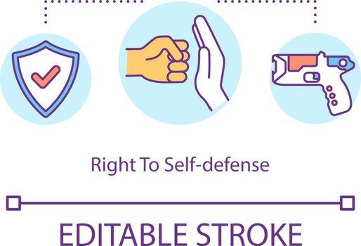 Right to self defense concept icon