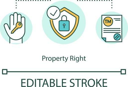 Property right concept icon