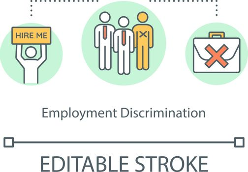 Employment discrimination concept icon