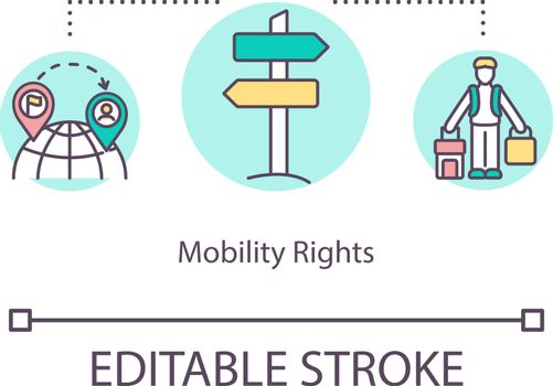 Mobility rights concept icon