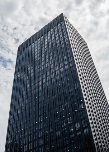 MONTREAL, CANADA - JUNE 17, 2018: The Banque Canadienne Nationale office tower has 32 floors and was completed in 1968.