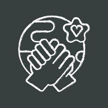 Tolerance chalk white icon on black background