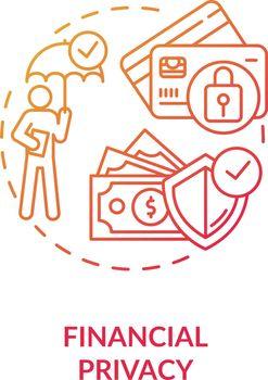 Financial privacy concept icon