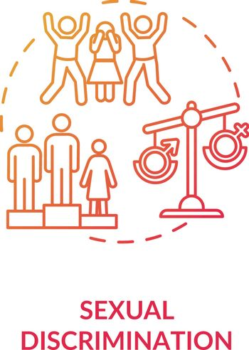 Sexual discrimination concept icon