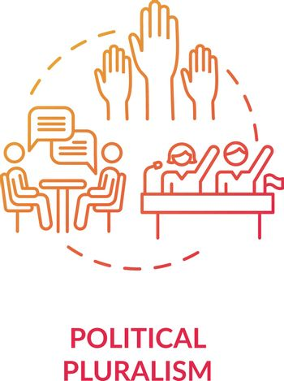 Political pluralism concept icon