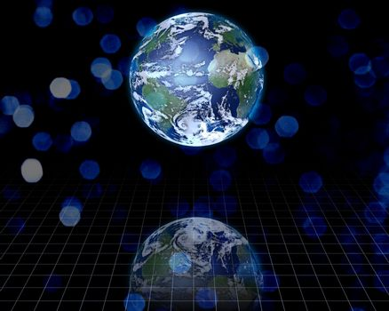 Planet Earth on modern background. 3D rendering